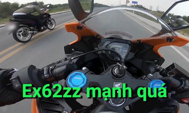 Nhìn lại màn so kè tốc độ giữa Exciter 62zz và CBR250RR