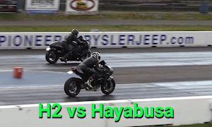 Kawasaki H2 so kè tốc độ cùng thần gió Suzuki Hayabusa