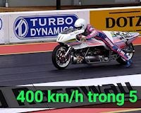 Siêu mô tô động cơ tên lửa chạy 400m với tốc độ 452 km/h