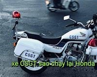 Tại sao Honda CB250 của CSGT không chạy lại Honda Winner?