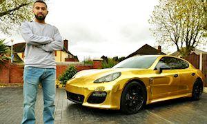 Nam thanh niên bị bắt vì dán decal xe Porsche vàng chóe như Phúc XO