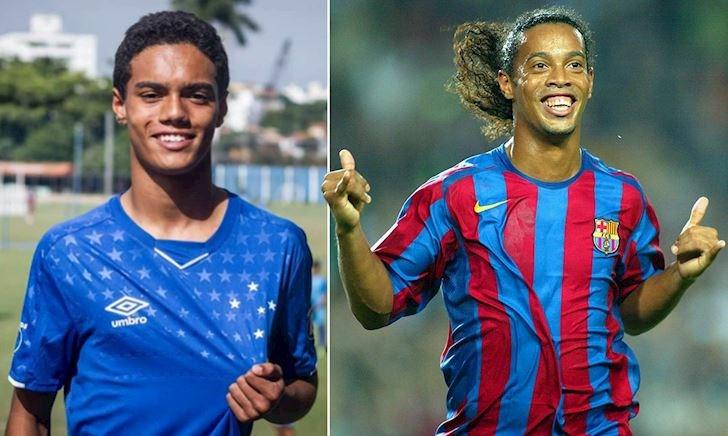 'Quẩy' như cha, con trai Ronaldinho ký hợp đồng triệu đô ở tuổi 14