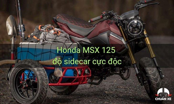 Độc đáo với Honda MSX 125 độ sidecar