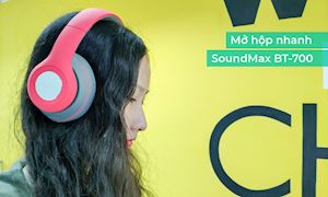 Đập hộp nhanh Tai nghe không dây SoundMax BT-700: Thiết kế đẹp, trẻ trung, nghe ấm, giá dễ chịu