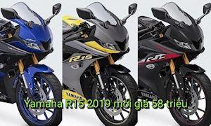 Yamaha R15 2019 xuất hiện với 3 màu mới đẹp mắt