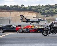 Kawasaki Ninja H2R hủy diệt máy bay phản lực, xe đua F1 trên đường đua drag