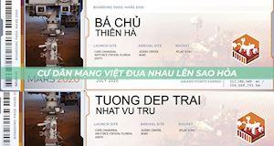 Cư dân mạng Việt Nam phát cuồng với trào lưu đăng ký 'lên sao Hỏa'