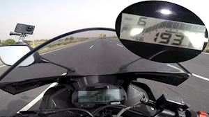 Yamaha R15 V3 2019 max speed 193 km/h?