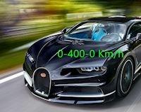 Xem siêu xe Bugatti Chiron bức tốc 0-400-0 km/h nhanh đáng sợ