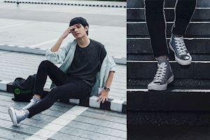 3 nguyên tắc phối đồ 'chuẩn men' với giày Converse nam