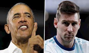 Barack Obama bênh Messi, 'tư vấn' để tuyển Argentina thành công