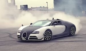 Màn đốt lốp tốn hơn 3 tỷ của siêu xe Bugatti Veyron