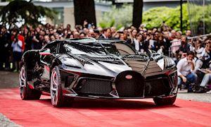 Mê mẫn trước siêu xe đắt nhất thế giới 440 tỷ Bugatti La Voatio Noire