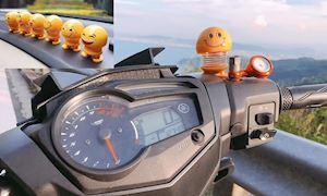 Thú nhún lò xo Emoji - trào lưu  cực hot của biker