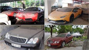 Loạt siêu xe bị bỏ xó phủ bụi tới hư hỏng tại Việt Nam