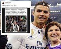 Ronaldo muối mặt vì mẹ đẻ nhầm lẫn trên MXH
