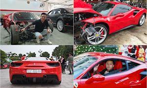 Ca Sĩ Tuấn Hưng chi tiền tỷ sửa siêu xe Ferrari bị đâm nát đầu