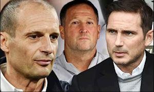 Lampard và Allegri lọt danh sách 6 ứng viên thay thế Sarri