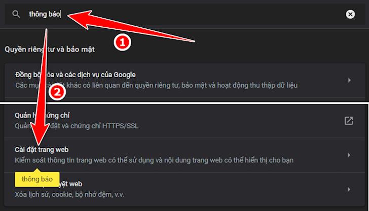 Cach tat thong bao Google Chrome de khong bi lam phien 2