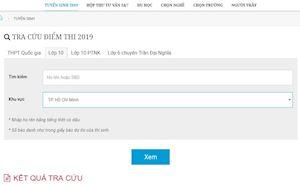 Tra cứu điểm thi tuyển sinh lớp 10 năm 2019 dễ dàng với các trang web tiện ích