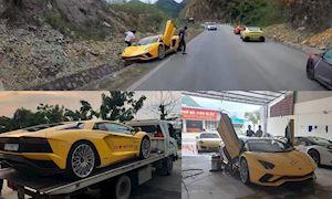 Car Passion 2019 - Lamborghini Aventador S gặp nạn trên đèo