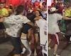 Video Clip: Fan nữ Colombia hỗn chiến từ trong sân ra đến ngoài đường