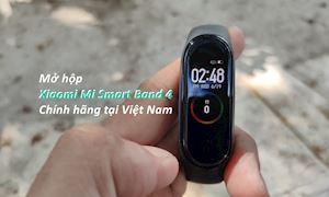 Mở hộp Xiaomi Mi Band 4 chính hãng: Màn hình màu, cảm ứng nhạy, giá yêu thương