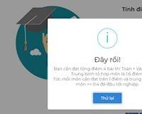 Cách tính điểm tốt nghiệp THPT 2019 trên website xem có đậu không