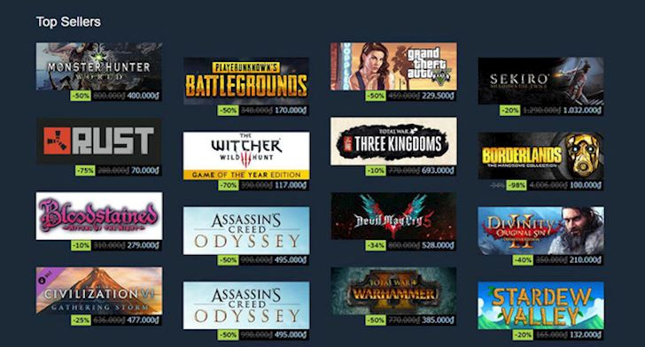 Steam Summer Sale 2019 Game dinh giam gia den tan 85