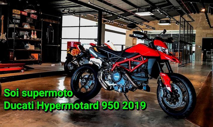 Soi chi tiết và tiếng pô Ducati Hypermotard 950 2019