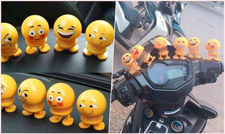 Thú nhún Emoji – Bị điên mới gắn lên xe