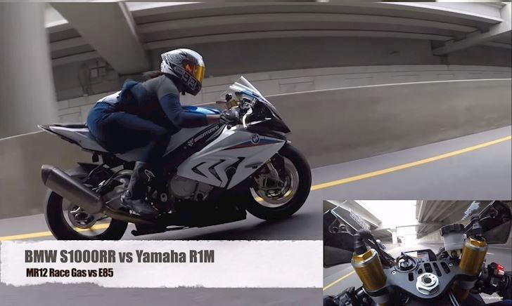 Video cô gái nài S1000RR dằn mặt nam thanh niên chạy R1M
