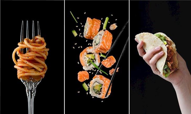 Mì Ý, sushi, taco và những thao tác trên bàn ăn để tập làm đàn ông sang trọng