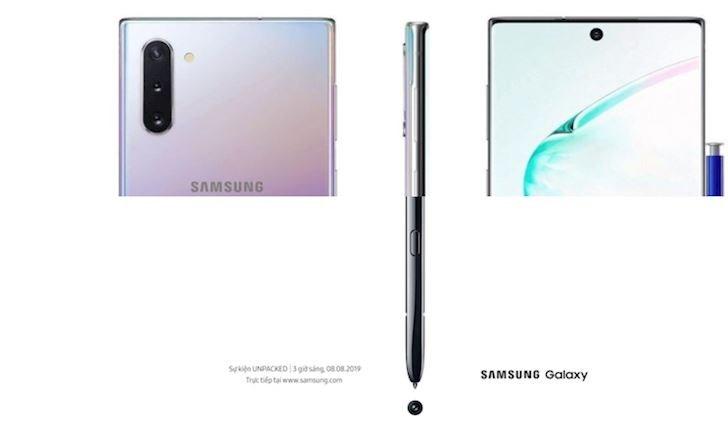 Đã có hình ảnh thực tế Galaxy Note 10: Mặt lưng đẹp như Huawei P30 Pro, viền mỏng hơn iPhone X?