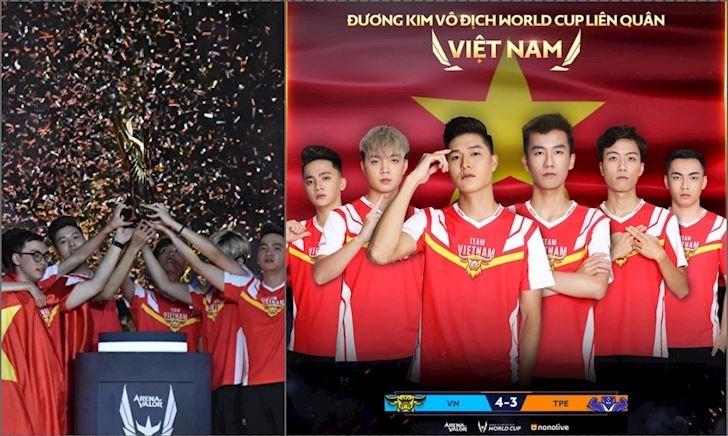 Team Việt Nam vô địch Liên Quân Mobile thế giới, giải thưởng gần 5 tỷ đồng