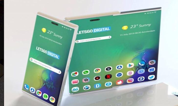 """Xem trước bằng sáng chế điện thoại """"kéo"""" của Samsung"""