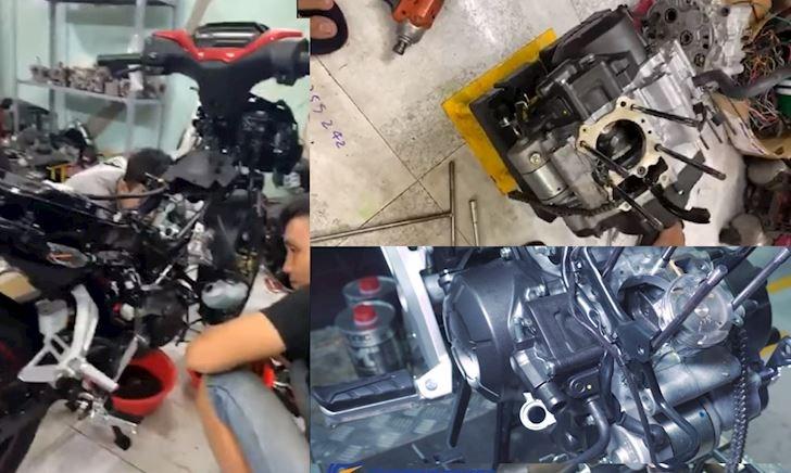 Tháo bung máy Honda Winner X để xem chi tiết động cơ có thay đổi?