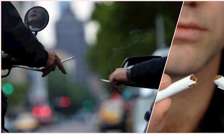 Vừa hút thuốc vừa lái xe - Thói quen nguy hiểm của người Việt