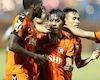 Video clip: Nam Định thua đau trong trận 'thủy chiến' với đội bóng sông Hàn