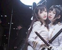 Gục ngã dưới lưỡi kiếm của hai nàng tiên nữ Atago trong bộ cosplay Kantai Collection