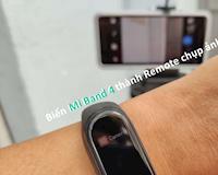Mi Band 4: Biến vòng đeo tay thông minh thành remote điều khiển chụp ảnh từ xa