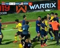 Video clip: Hỗn chiến kinh hoàng ở trận chung kết U15 Đông Nam Á 2019