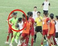 Video clip - U18 Indo vs U18 Lào hỗn chiến biến sân bóng thành sàn đấu boxing