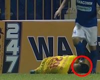 Video clip: Đấm mặt, đạp vào đầu đồng nghiệp chỉ bị phạt 2 trận...có đáng?