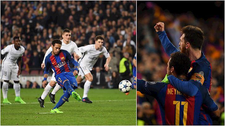 Muon dao tau nhanh, Neymar lan hai nhac tran PSG thua Barca 1-6 anh 1
