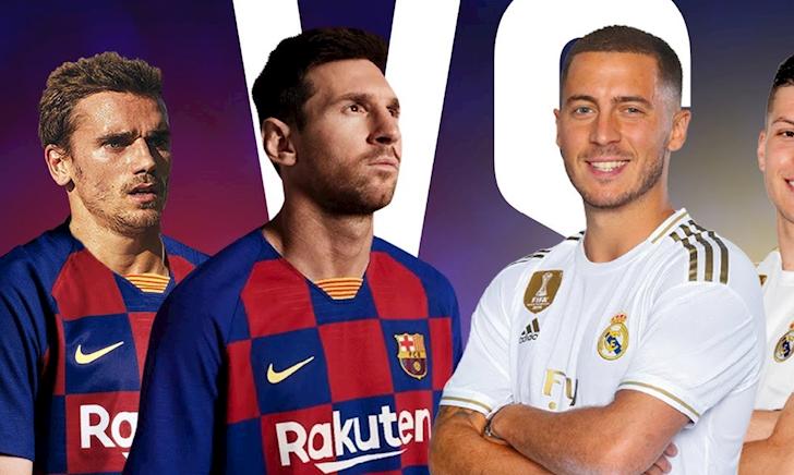 Kinh ngạc với kết quả so sánh đội hình Barca và Real