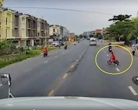 Trẻ con sang đường bất ngờ và pha xử lý xuất thần của lái xe Container - Đằng sau vô lăng #3