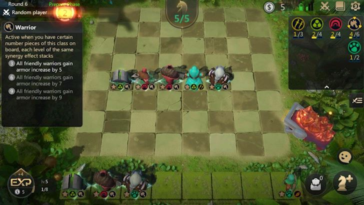 Phân tích và hướng dẫn cách chơi tộc Chiến Binh trong Auto Chess Mobile VN