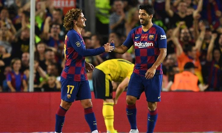 Suarez lập công, Barca ngược dòng ngoạn mục trước Arsenal