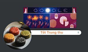 """Google Doodle vinh danh Tết trung thu: """"Trung thu là Tết đoàn viên"""""""